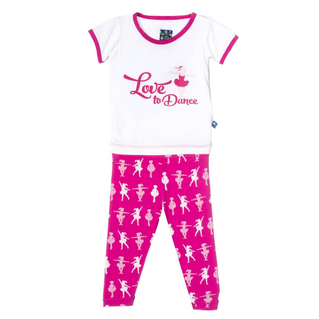 Kickee Pants Pajama Set - Child - CALYPSO BALLERINA SHORT SLEEVE PJ