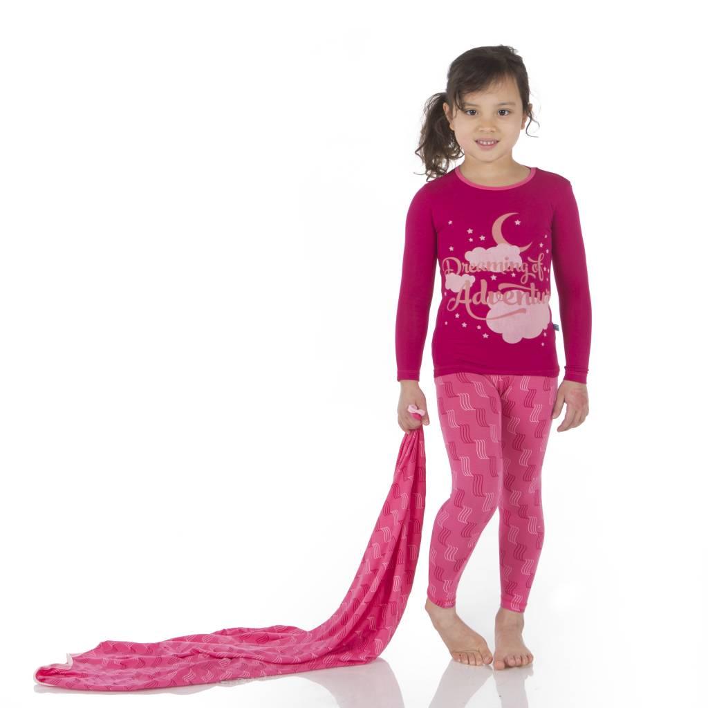 Kickee Pants Pajama Set - Child - Print Long Sleeve Pajama Set