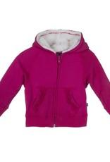 Kickee Pants Ruffle Zip-Front Hoodie with Sherpa-Lined Hood