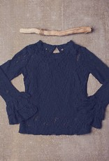Jak & Peppar Top - Lace on My Mind Top: Navy Bean