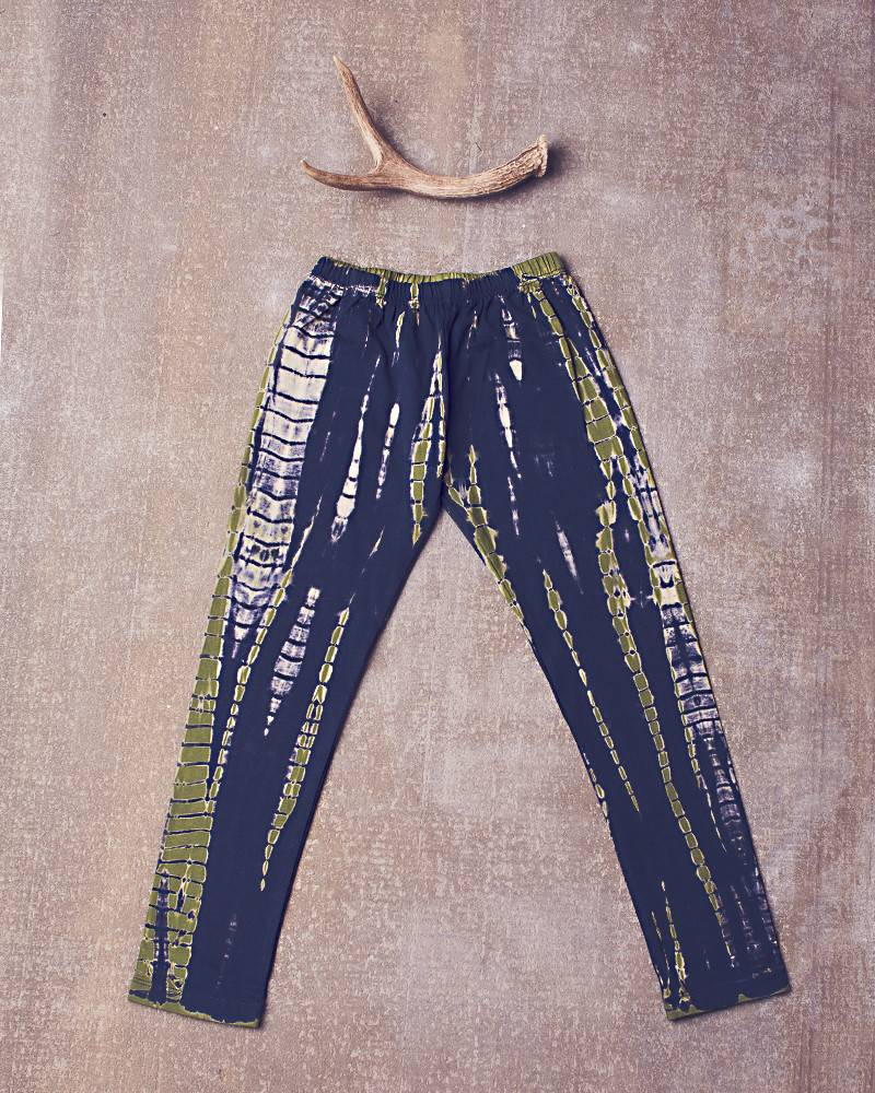 Jak & Peppar Leggings - Dazed and Confused Leggings: Navy Olive
