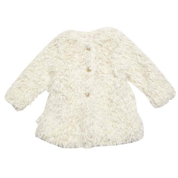 Pink Chicken Coat - Kate Coat: Cream Fur