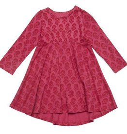 Pink Chicken Dress - Romy Dress: floral block print in