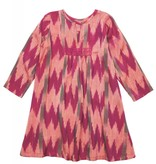 Pink Chicken Dress - ADELE DRESS in Magenta Ikat