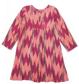 Pink Chicken Dress - Adele Dress in Magenta Ikat