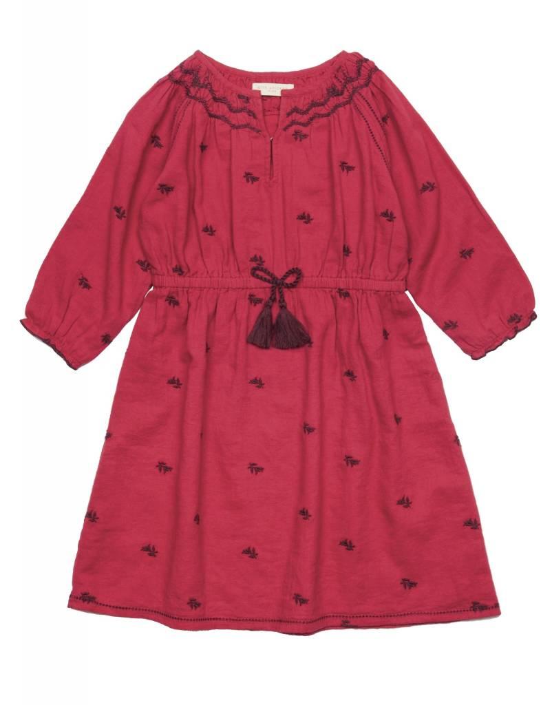 Pink Chicken Dress - Clara Crepe Dress