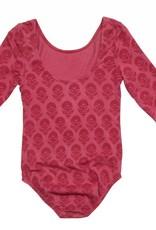 Pink Chicken Leotard - Leotard: Floral Block Print in