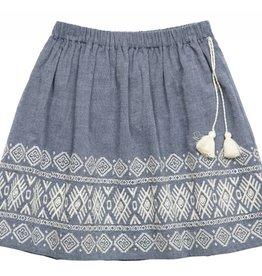 Pink Chicken Skirt - Emmie Embroidered Skirt in