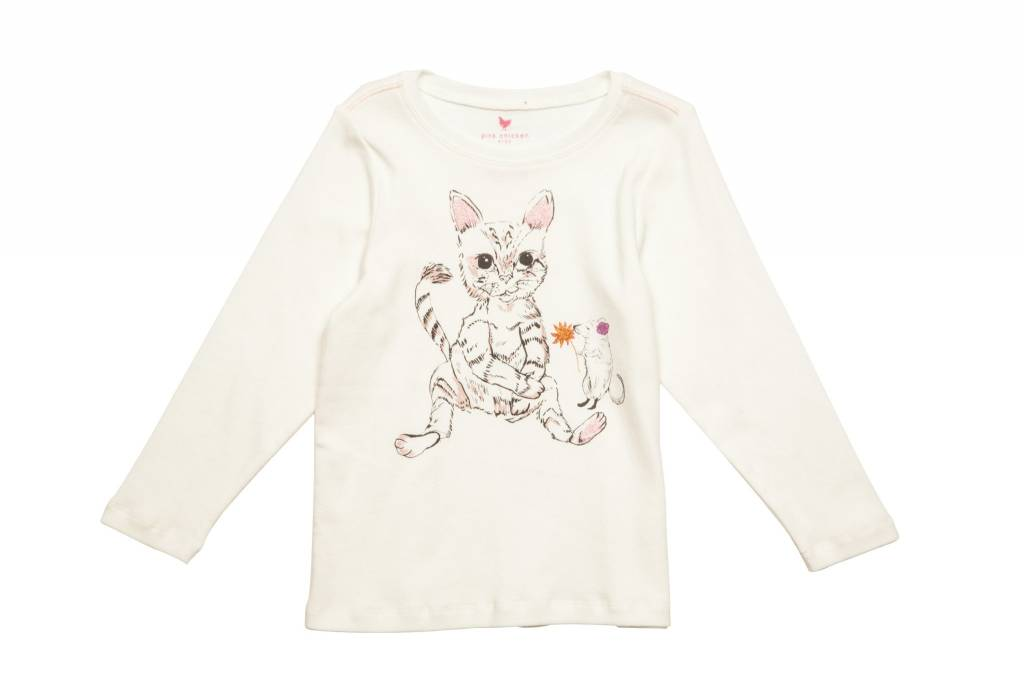 Pink Chicken T-Shirt - Long Sleeve Graphic Tee