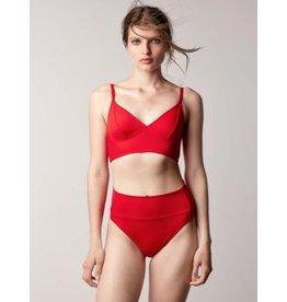 Fortnight Fortnight Swim Fold Over Bikini Bottom Scarlet