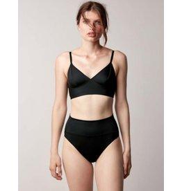 Fortnight Swim Fold Over Bikini Bottom Black