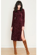 Only Hearts Only Hearts Cut Velour Dress