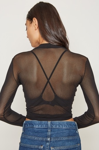 Only Hearts Only Hearts Tulle Wrap Top