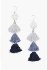 Chan Luu Chan Luu Tier Tassel Earrings Total Eclipse Combo