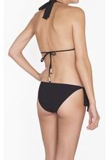 Shan Shan Swim Bright Like A Diamond Halter Bikini Top Black
