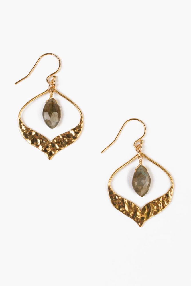 Chan Luu Labradorite Pear Gem Earrings
