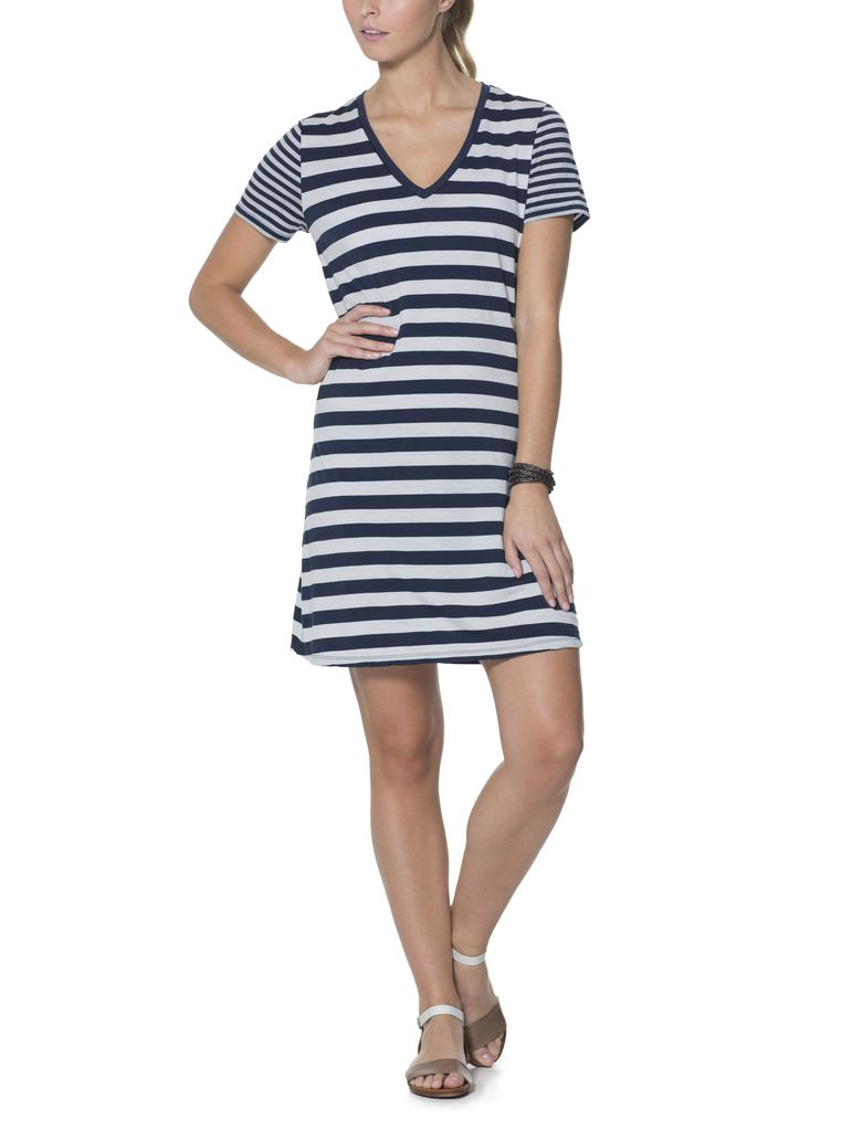 Icebreaker Icebreaker Women's Tech Lite SS V Dress Stripe