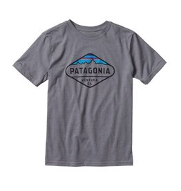 Patagonia Patagonia Boys' Fitz Roy Crest Cotton/Poly T-Shirt