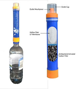 Equip Go Fresh Water Filtration Straw