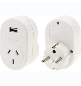 OSA Travel Adaptor Europe with USB