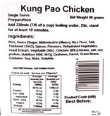 Back Country Cuisine Back Country Kung Pao Chicken