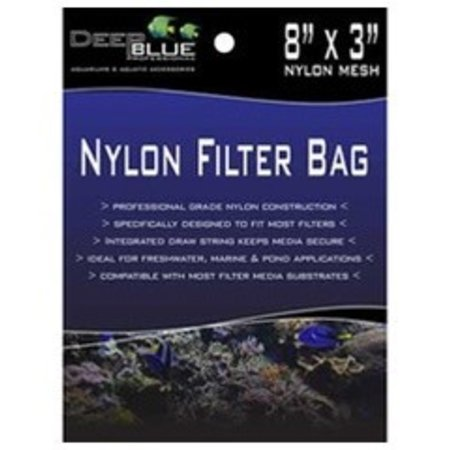 Deep Blue Nylon Fliter Bag 8 x 3