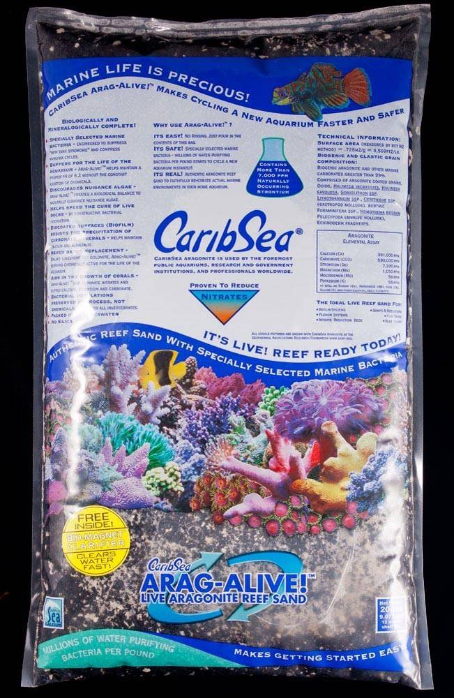 Caribsea Arag-Alive Indo - Pacific Black Sand 20lb