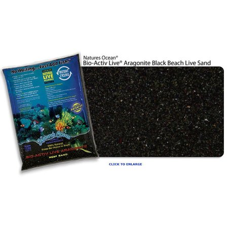 Natures Ocean Live Black Beach Sand 20lb