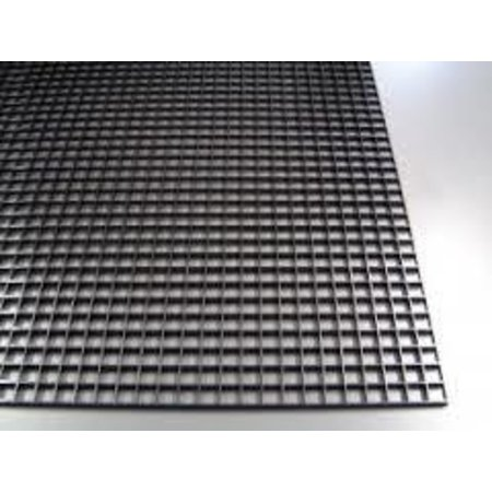 "Egg Crate Material 2'x4'x3/8"" Black"