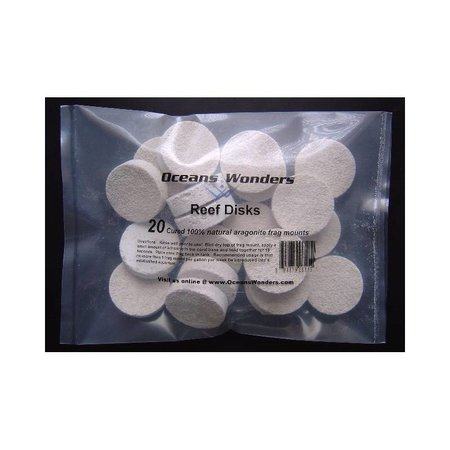 Ocean Wonders Ceramic Frag Disks ( 20ct)