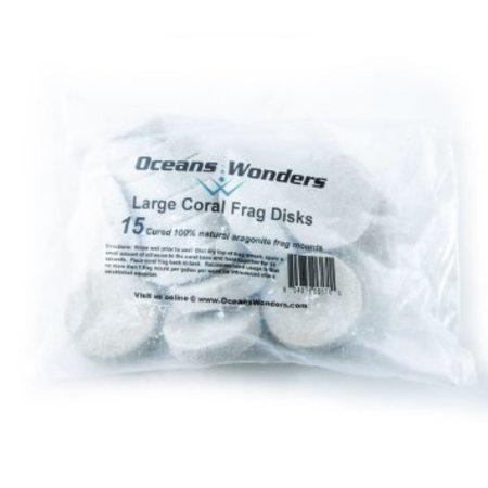 Ocean Wonders Ceramic Frag Disks ( Large 15ct)