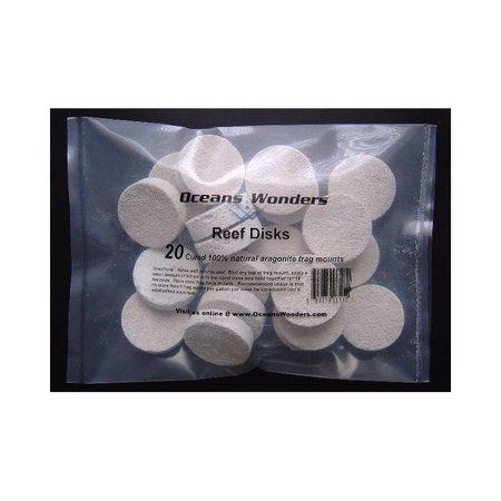 Ocean Wonders Ceramic Frag Disks 50ct