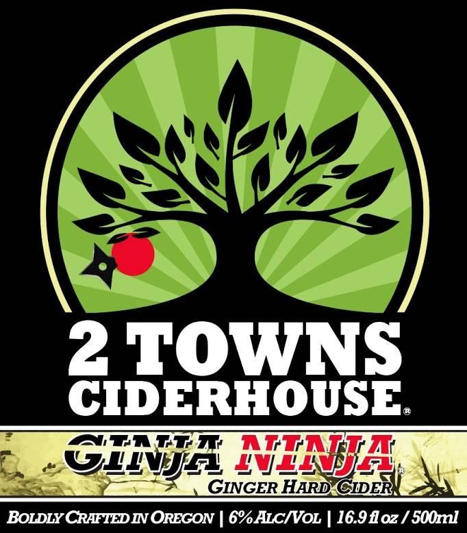 2 Towns Ginja Ninja Ginger Hard Cider ABV: 6% 6 pack