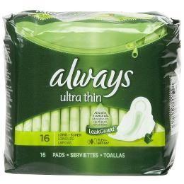 Always Ultra Thin 16 Pads