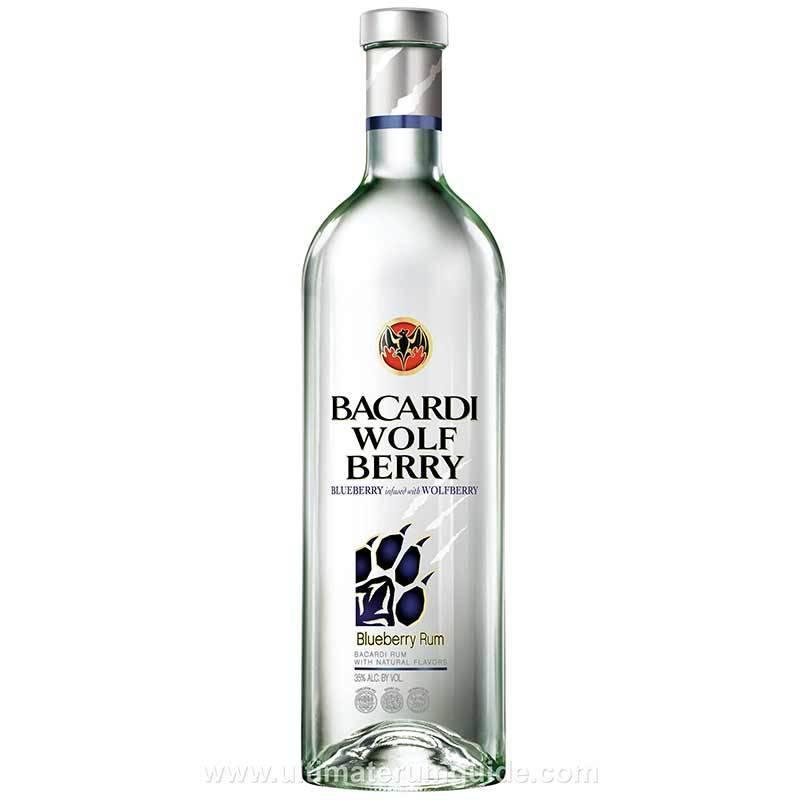 Bacardi Wolf Berry Blueberry Rum Proof: 70  750 mL