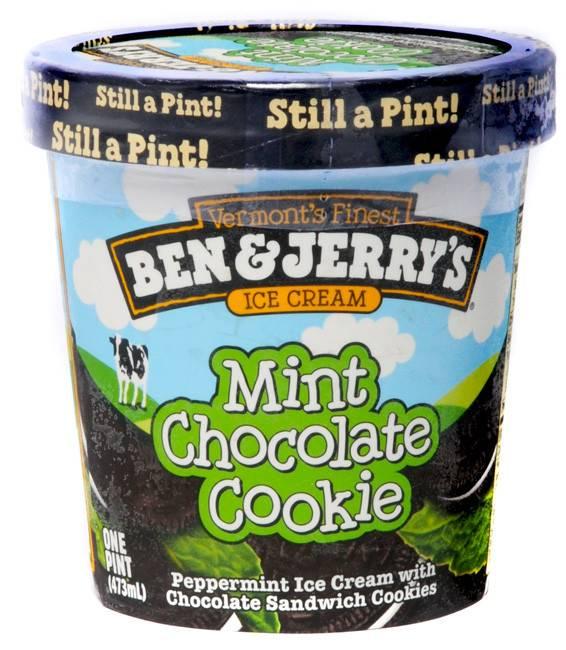 Ben & Jerry's Mint Chocolate Cookie Ice Cream 1 Pt