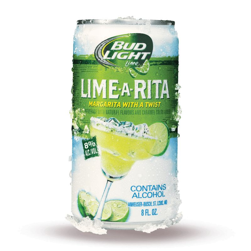 Bud Light Lime A Rita ABV: 8% 25 OZ