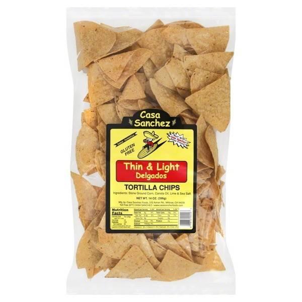 Casa Sanchez Gluten Free Thin & Light Tortilla Chips