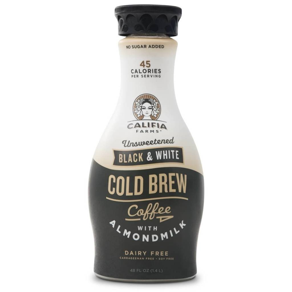 Califia Farms Dairy & Soy Free Unsweetened Black & White Cold Brew Coffee with Almond Milk 48 OZ