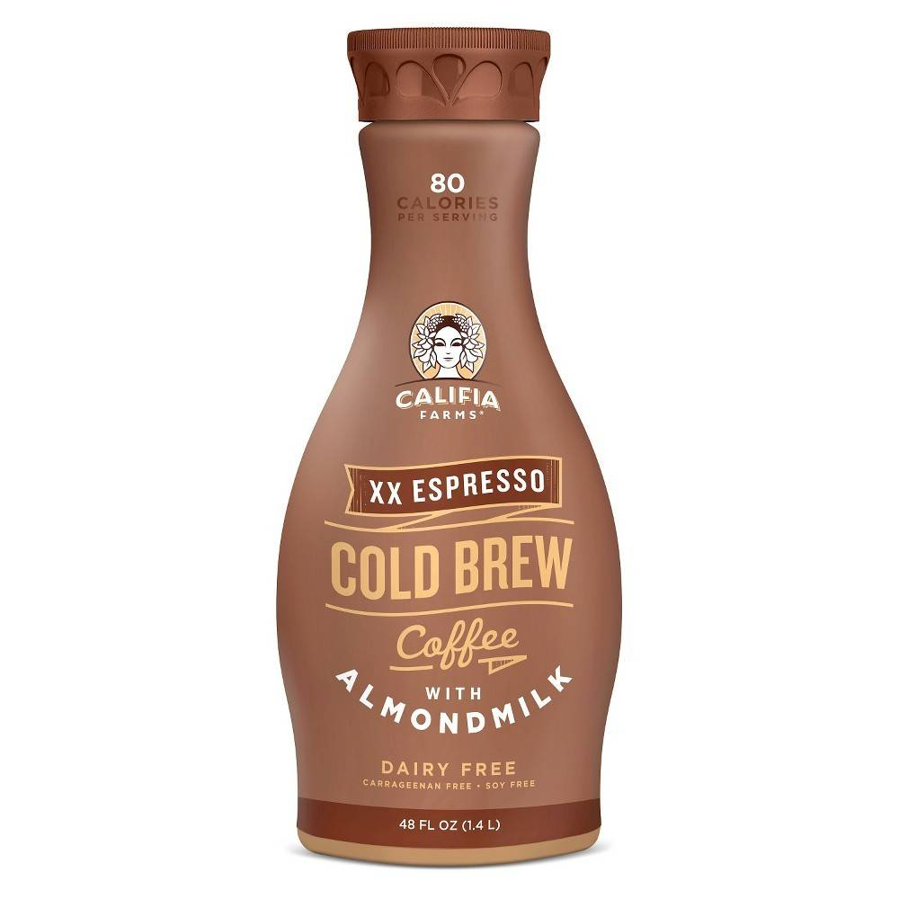 Califia Farms Dairy & Soy Free XX Espresso Cold Brew Coffee with Almond Milk 48 OZ