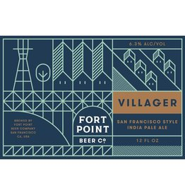 Fort Point Beer Co. Villager IPA ABV: 6.5%  6 Pack