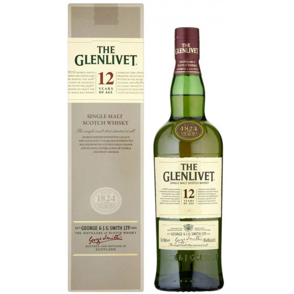 glenlivet 12 years single malt scotch whisky proof 80 750 ml