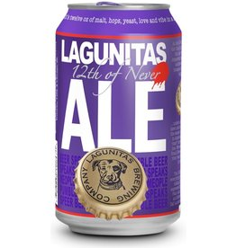 Lagunitas Brewing Co. 12th OF Never Ale Can ABV: 5.5%  12 Pack