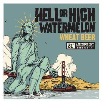 21st Amendment Hell or High Watermelon ABV 4.9% 15 Packs