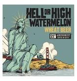 21st Amendment Hell or High Watermelon ABV 4.9% 6 packs