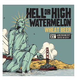 21st Amendment Hell or High Watermelon ABV 4.9% 6 packs
