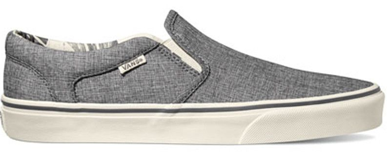 vans classic slip on shoes palm print white