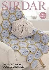Sirdar 7817 Sirdar Hex Crochet Afghan & Cushion