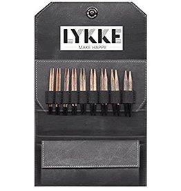 "LYKKECRAFTS Lykke Driftwood 3.5"" INTERCHANGEABLE US 3-10.5 Needle Set GREY CASE"