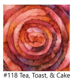 frabjous fibers Merino Top Braid 4 oz Tea Toast & Cake 118